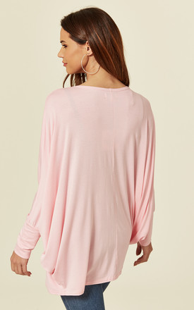 MIA – Oversized Bling Pink Heart Top by Blue Vanilla