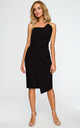 Black dress with pencil cut asymmetric front by MOE