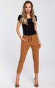 Brown cropped jogging trousers by MOE