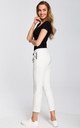 White cropped jogging trousers by MOE