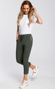 Green cropped jogging trousers by MOE