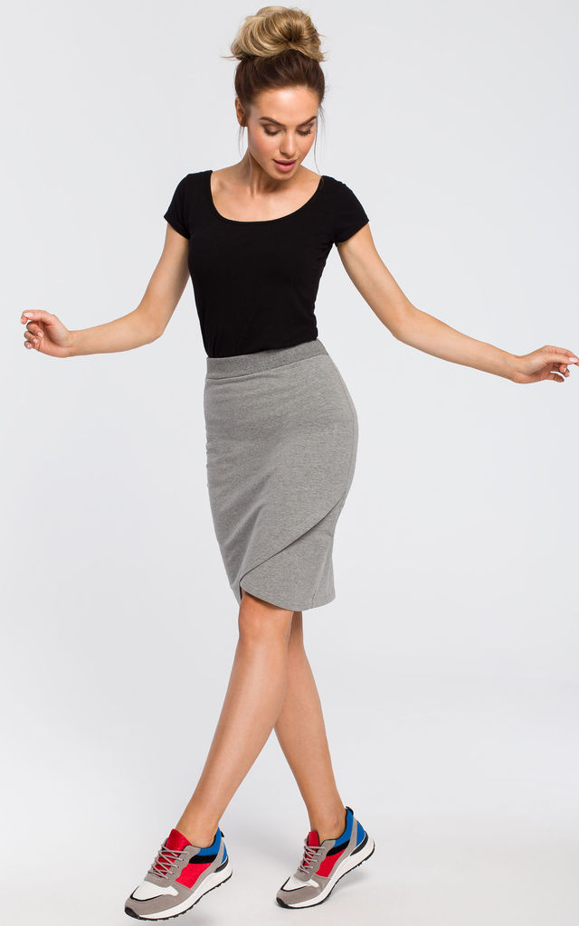 Grey mini bodycon skirt by MOE
