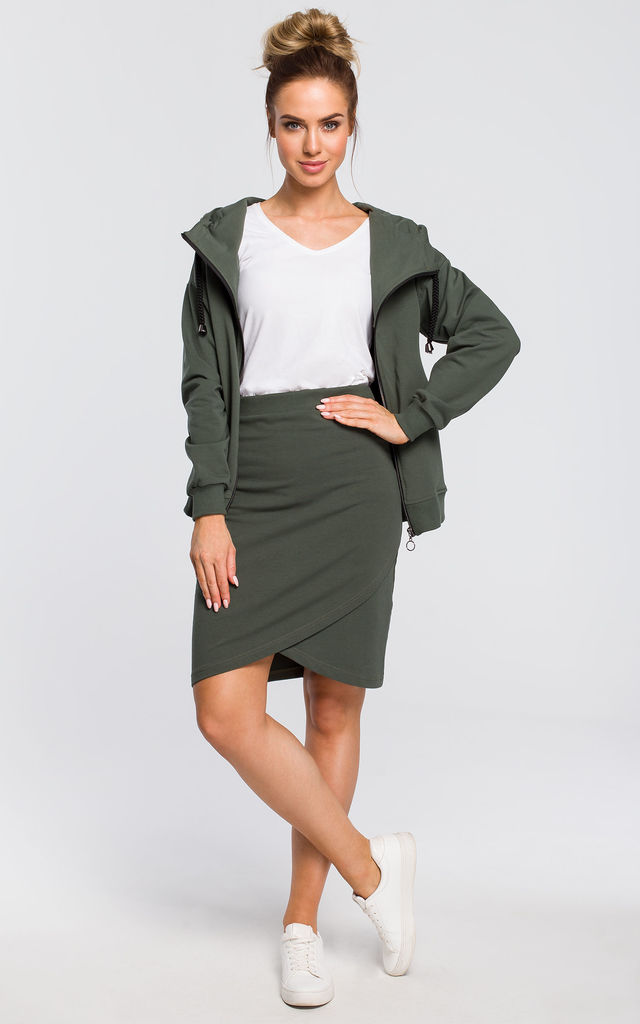 Green mini bodycon skirt by MOE