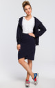 Navy blue mini bodycon skirt by MOE