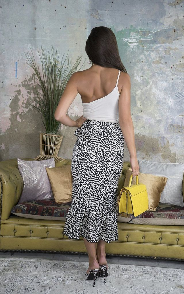 Leia Leopard Print Wrap Skirt by Lavand Stories