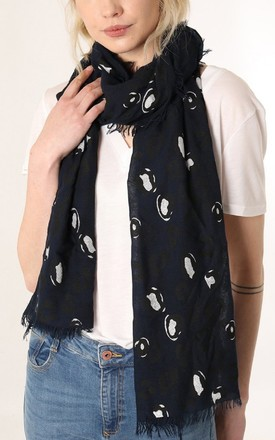 Navy Metallic Animal Print Scarf by Nautical and Nice Ltd