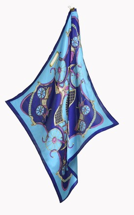 Blue Carriage Silk Square Scarf by Nautical and Nice Ltd