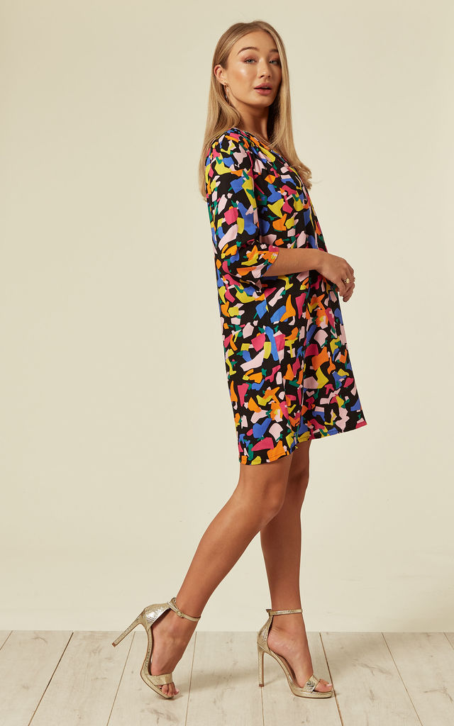 Millie Confetti Mini Dress in Multi by Traffic People