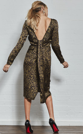 Roxy Knot Back Leopard Print Dress by India Gray Product photo
