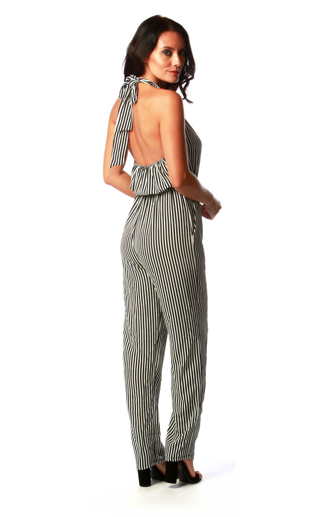 Navy and White Monochrome Jumpsuit by Want That Trend