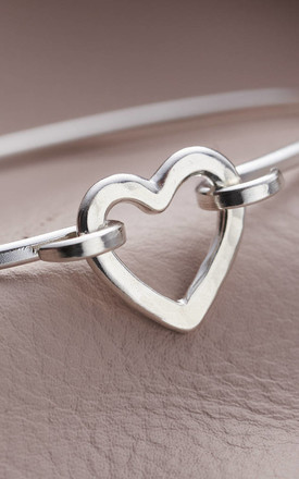 Sterling Silver Heart Charm Bracelet by Posh Totty Designs