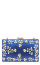Blue Pearl embellished evening prom wedding clutch bag by Hello Handbag