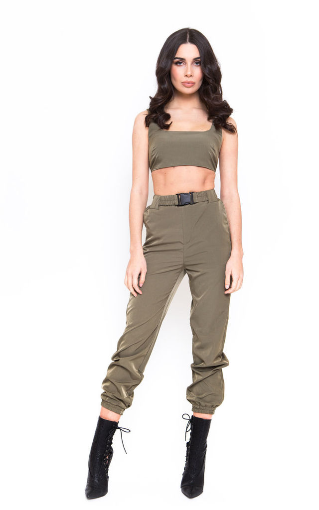 KHAKI UTILITY TROUSERS by Candypants
