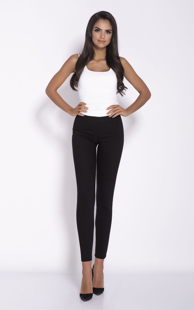 Cropped Cigarette Trousers in Black by Dursi