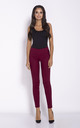 Deep Red Cigarette Cropped Trousers by Dursi