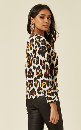 Animal Print Top With Long Sleeves by DIVINE GRACE