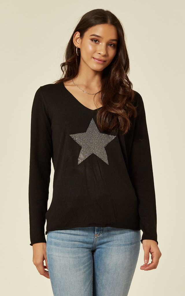 Black Jumper with Star by DIVINE GRACE