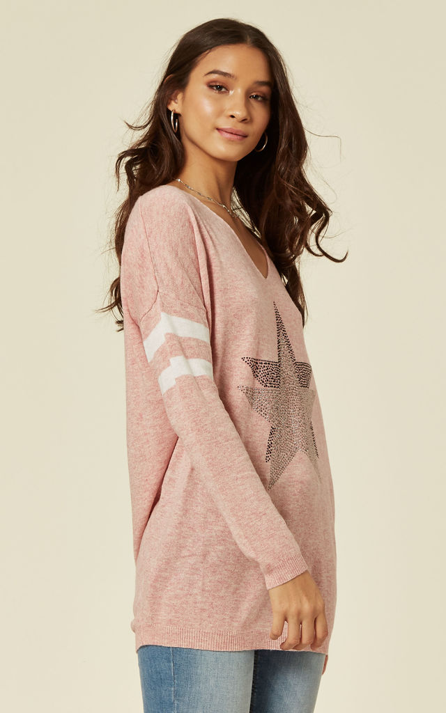 Pink Star Jumper by DIVINE GRACE