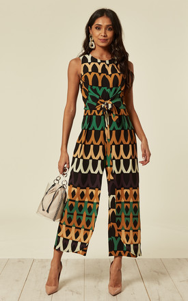 Aztec Print Tie Waist Jumpsuit by AX Paris Product photo