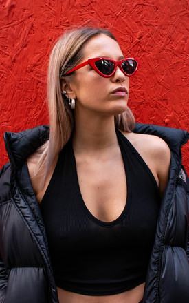 Cat eye sunglasses in red by 100 Hail Marys