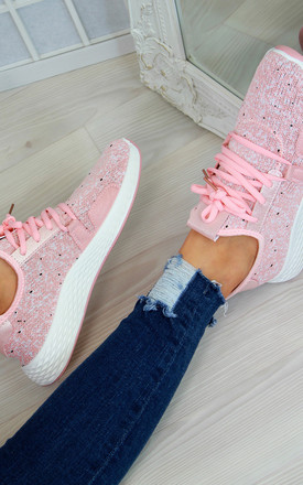 Pink Lightweight Trainers by Larena Fashion
