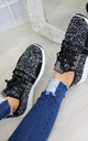 Black Lightweight Trainers by Larena Fashion