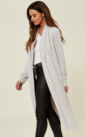 Light Grey Duster Coat/Jacket with Side Slits by Prodigal Fox