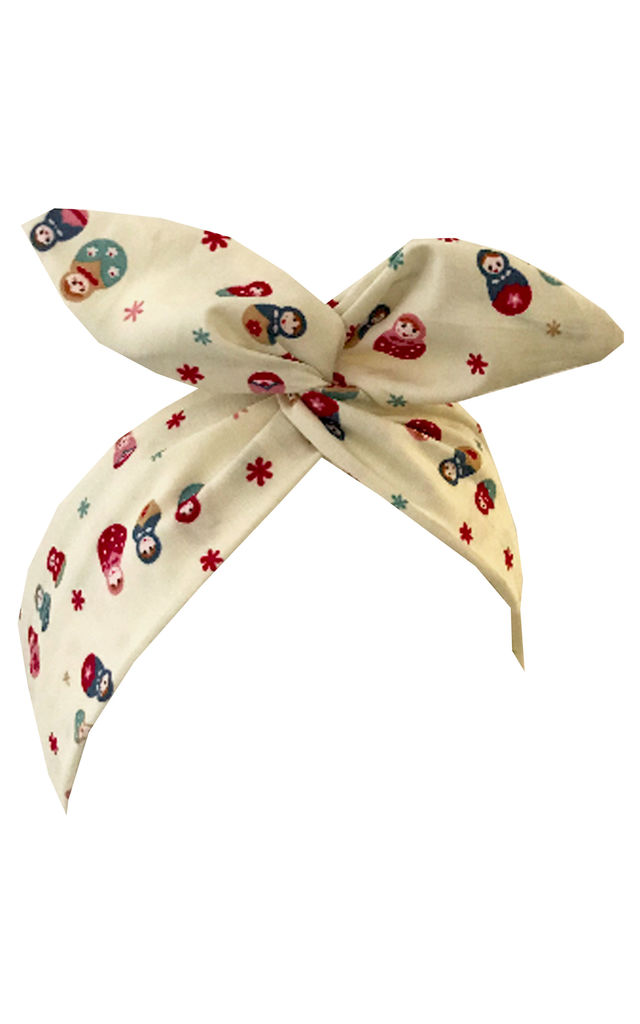 Russian Doll print wired headband by LULU IN THE SKY