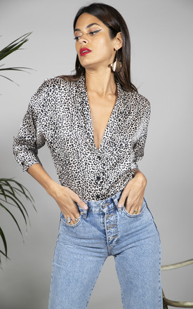 Animal Print Satin shirt