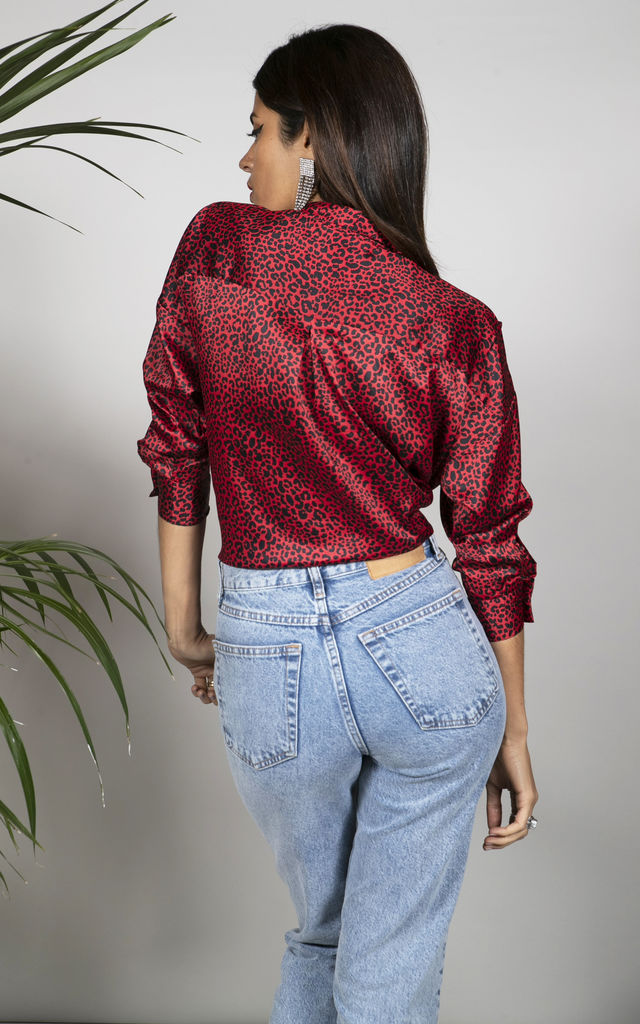 Monte Carlo Shirt in Small Red Leopard image