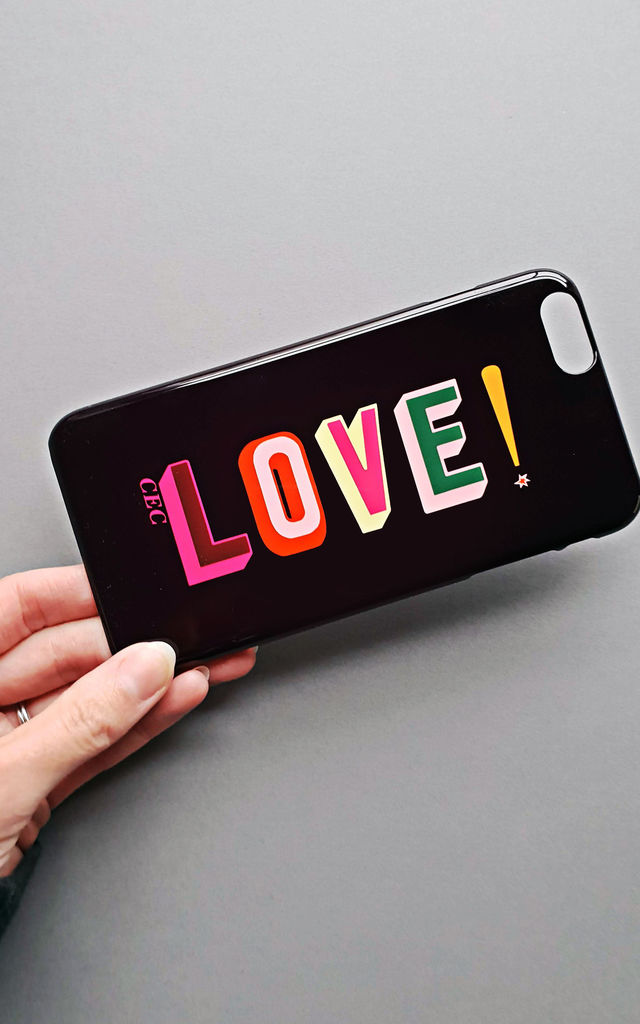 LOVE personalised rainbow font phone case by Rianna Phillips