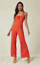 Ribbed Knit Vest Top and Trousers Co-Ord in Red by Lucy Sparks