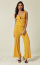 Ribbed Knit Vest Top and Trousers Co-Ord in Yellow by Lucy Sparks