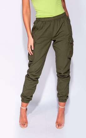 Molin Khaki Pocket Cargo Trousers by The Fashion Bible