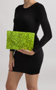Aisha Neon Faux Snakeskin Envelope Clutch Bag by KoKo Couture