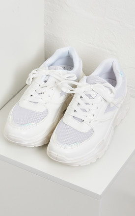 JACINTA – White Chunky Sole Trainer by Blue Vanilla