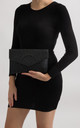 Dido Black Laser Cut Envelope Clutch by KoKo Couture