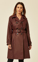 Alexis Wine Showerproof Trench Coat by De La Creme Fashions