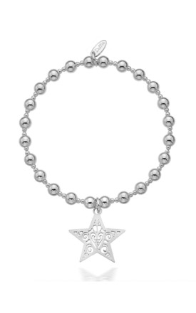 Sterling Silver Super Star Bracelet by Dollie Jewellery
