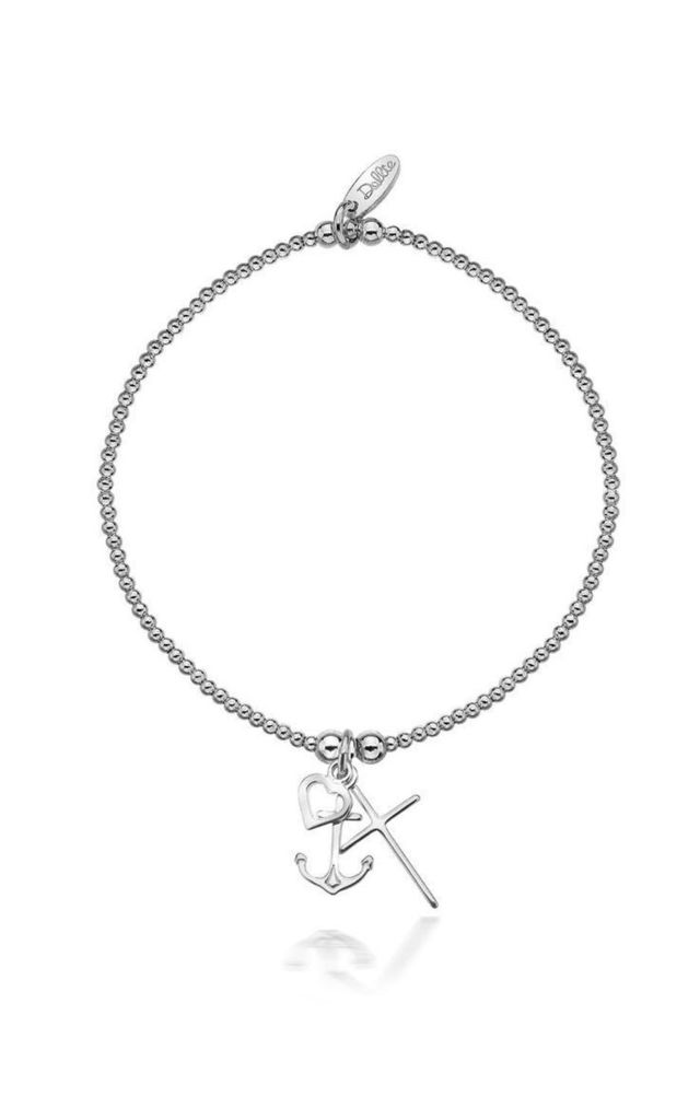 Sterling Silver Faith, Hope, Love Bracelet by Dollie Jewellery