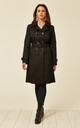 Alexis Black Showerproof Trench Coat by De La Creme Fashions
