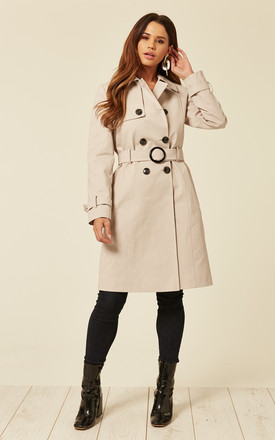 Alexis Stone Showerproof Trench Coat by De La Creme Fashions