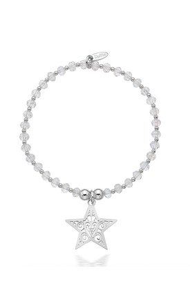 Sterling Silver Starry Night Shimmer Bracelet by Dollie Jewellery