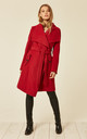 Beverley Red Large Lapel Duster Coat by De La Creme Fashions
