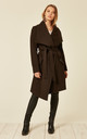 Beverley Brown Large Lapel Duster Coat by De La Creme Fashions