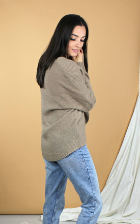 Khaki Wrap Jumper by HAUS OF DECK