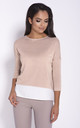 Relaxed Fit 3/4 Sleeve Blouse in Pink by Dursi