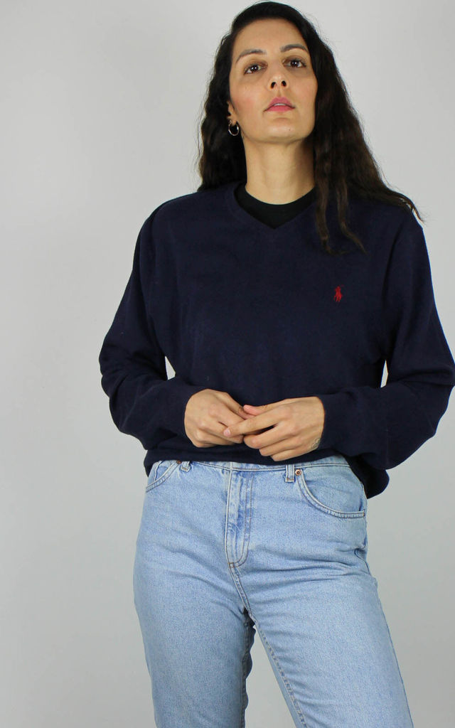 Vintage Polo Ralph Lauren Knit Jumper w Logo Front by Re:dream Vintage