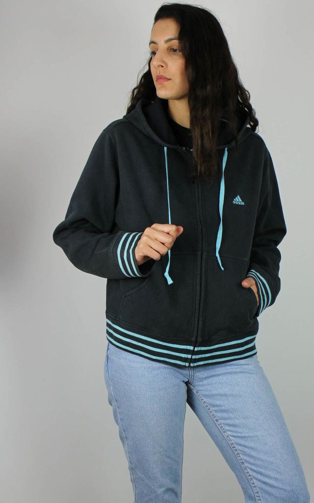 Vintage Adidas Sports Sweat Jacket w Logo & Three Stripes by Re:dream Vintage