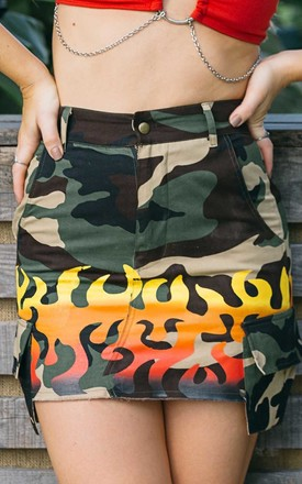 'Formation' Army Mini Skirt In Camo by Cute Mistake Product photo